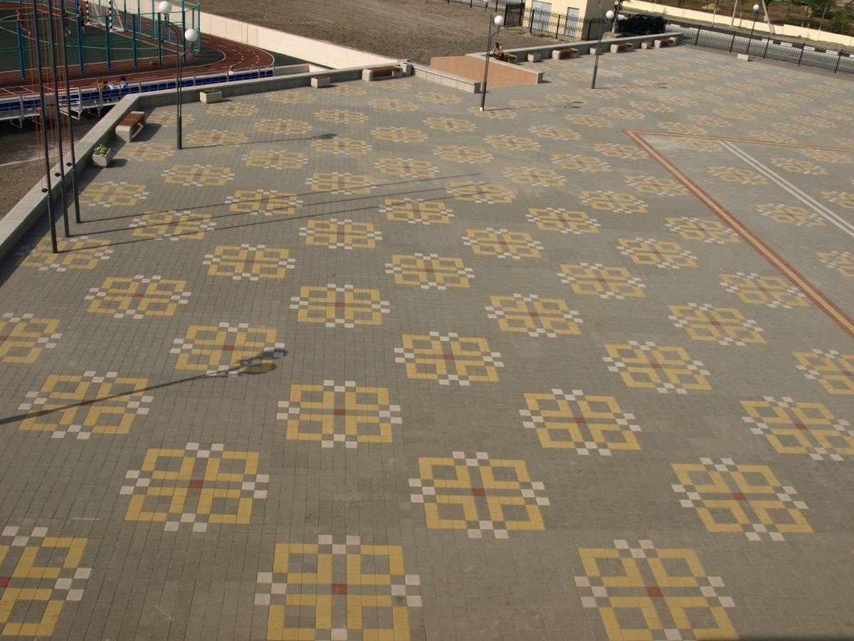 Узор из квадратной тротуарной плитки