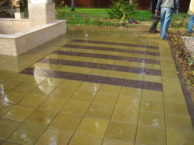 Горчичная квадратная тротуарная плитка