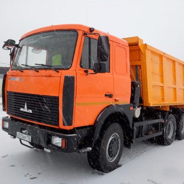 Самосвал МАЗ 5516, грузоподъемность 1-20т.