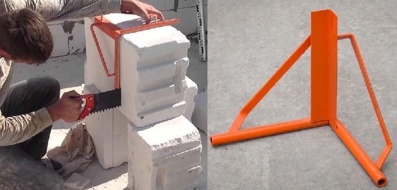 Инструмент для работы с газосиликатными блоками.